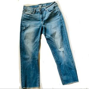 Levi's Denizen High- Rise Slim Crop Jeans Size 12